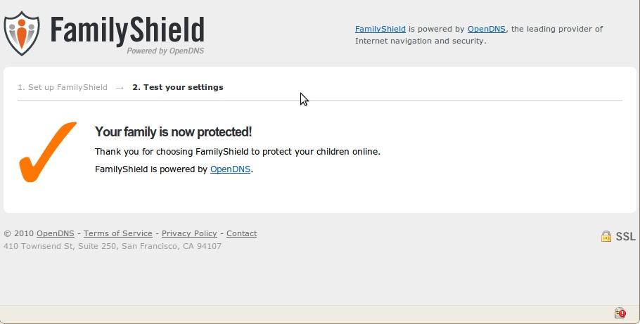 OpenDNS FamilyShield